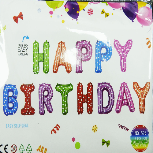Colorful Birthday Foil Banner